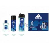 Adidas UEFA Champions League Dare Edition VI aftershave 50 ml + shower gel 250 ml + deodorant spray 150 ml, cosmetic set