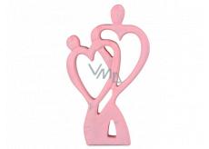 Emocio Wooden decoration heart pair pink 120 x 20 x 200 mm