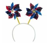 Headband with pinwheels