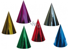 Carnival hat hologram different colors 6 pieces in the package