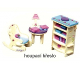 Mini Dream Home Wooden puzzle dream furniture 04 Rocking chair 20 x 15 cm