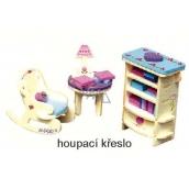 Mini Dream Home Dřevěné puzzle nábytek snů 04 Houpací křeslo 20 x 15 cm