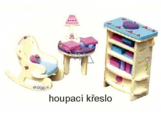 Mini Dream Home Wooden puzzle furniture 04 Rocking chair 20 x 15 cm