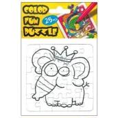 Folding coloring page Elephant 25 pieces 18 x 12 cm