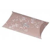 Folding glitter box M - beige 7691