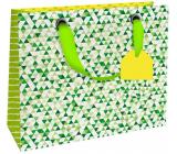 Nekupto Gift paper bag luxury small 18 x 16 x 8 cm Green 1839 LIS