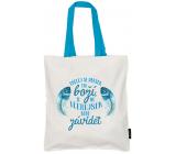 Nekupto Don't plastic Shopping bag cotton, Make today God 38 x 40 x 10 cm