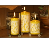 Lima Savana candle yellow cylinder 60 x 120 mm 1 piece