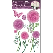 Room Decor Wall stickers colored dandelions with a contour of 50 x 32 cm