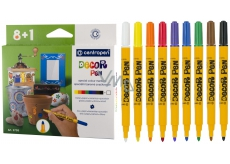 Markers special for metal, glass, plastic, ceramic, stone 8 + 1 pcs CENTROPEN 991019 1690