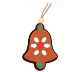 Gingerbread bugles, colorful, hanging 9cm bells