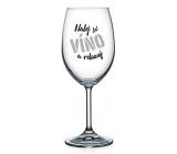 Nekupto NZ wine glass UY 005 Pour your wine and relax