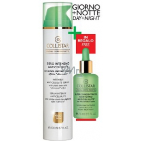 Collistar Intensive Anticellulite Serum (Siero Intensivo Anticellulite) intensive anti-cellulite serum 200 ml + Superconcentrated Night Treatment night anti-cellulite product 75 ml, cosmetic set
