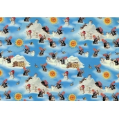Nekupto Gift wrapping paper 70 x 200 cm Christmas Mole light blue 1 roll