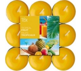 Bolsius Aromatic Tropical Fruit - Tropical fruit scented tealights 18 pieces, burning time 4 hours