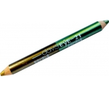 Princessa Davis Eye Double Color eyeshadow in pencil 021 light green and gold 6 g