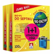 Bio-Enzym Bio-P1 biological preparation for disposal of organic impurities into the septic tank, cesspool, dry toilet 100g + 100g