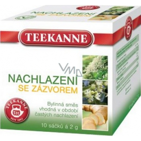 Teekanne Cold ginger herbal tea with healing effect for the period of common cold infusion bags 10 x 2 g