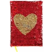 Albi Block with sequins Heart 15 cm x 21 cm