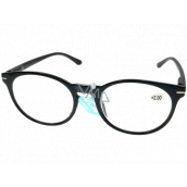 Berkeley Reading glasses +2.0 plastic black, round glass 1 piece MC2171