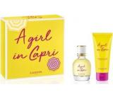 Lanvin A Girl in Capri eau de toilette for women 50 ml + body lotion 100 ml, gift set