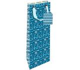 Nekupto Gift paper bottle bag 12.5 x 32.5 x 8 cm Native American pattern 1850 LILH