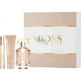 Hugo Boss Boss The Scent for Her parfémovaná voda 50 ml + parfémovaná voda 7,4 ml + tělové mléko 50 ml, dárková sada