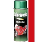 Color Works Metallic 928582 červená metalíza akrylový lak 400 ml