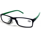 Glasses diop.plast. + 1,5 black green side MC2 ER4045