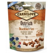 Carnilove Dog ostrich treat with blackberries Delicious crunchy treat suitable for all dogs with ostrich meat and blackberries for healthy heart 20 g