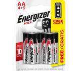 Energizer Max Battery AA / LR6 4 + 2 free