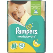 Pampers New Baby Dry 1 Newborn 2-5 kg disposable diapers 43 pieces