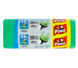 Fino Color Trash bags with handles green 35 liters, 49 x 60 cm, 8 µm, 30 pieces
