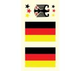 Arch Tetovací obtisky na obličej i tělo Německo vlajka 3 motiv
