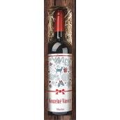 Bohemia Gifts & Cosmetics Merlot Kouzelné vánoce červené dárkové víno 750 ml
