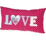 Me to You Polštář Love růžový 32 x 17,5 x 6,5 cm