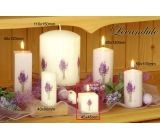 Lima Flower Lavender scented candle light purple with decal lavender cube 45 x 45 mm 1 piece