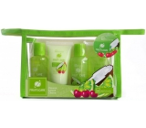 Idc Institute Fruit & Care Coconut, Lime & Cherry Travel Set Shower Gel 70 ml + Shampoo 70 ml + Body Milk 50 ml + Peeling 50 ml + Etue, Cosmetic Set