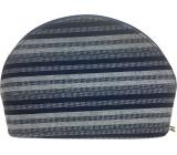 Etue Látková tmavě modro-bílý proužek 23 x 15 x 7,5 cm 70590
