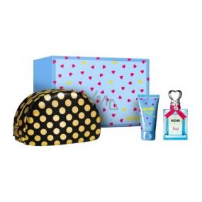 Moschino Funny! eau de toilette for women 50 ml + body lotion 50 ml + cosmetic bag, gift set