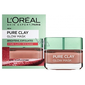 Loreal Paris Pure Clay Glow Mask exfoliating face mask 50 ml
