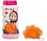 Máša a Medvěd 2v1 koupelový a sprchový gel pro děti + mycí žínka 450 ml