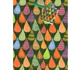 Nekupto Dárková papírová taška střední 18 x 23 x 10 cm Barevné stromy 1642 50 KFM