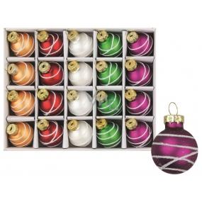 Set of glass flasks 5 colors 2,5 cm, 20 pcs