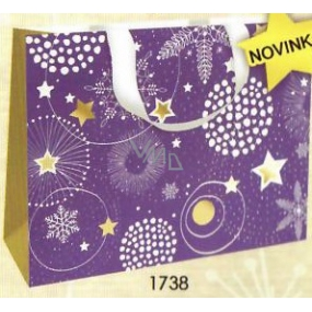 Nekupto Gift paper bag with embossing 23 x 18 cm Christmas 1738 WLFM