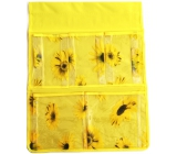Hanging pocket yellow 47 x 36 cm 5 pockets 713