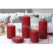 Lima CANDLE cylinder Ice red 50 x 70 mm 2 pieces