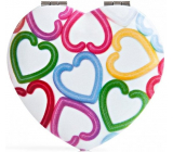 Diva & Nice Double classic mirror and magnifying heart - colored hearts 7 x 6.5 cm