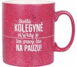 Albi Stoneware mug Kolegyně raspberry 570 ml