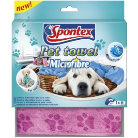 Spontex Pet Towel Microfibre microfiber towel for dogs and cats 40 x 80 cm 1 piece